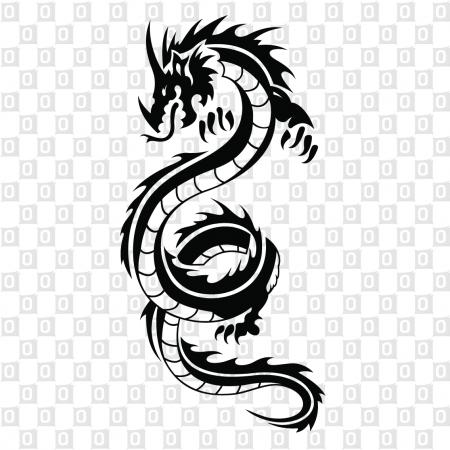 Drachen Dragon Kleber für Auto Heckscheibenaufkleber Snake Tribal