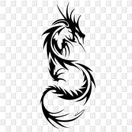 Dragons Drachen Snake Tribal Kleber für Auto Aufkleber Heckscheibe