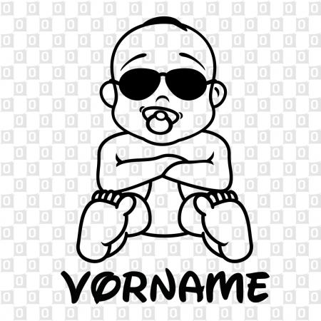 Babyaufkleber für das Auto Junge Bub Boy Sonnenbrille