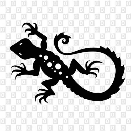 Gecko Kleber als Konturschnitt