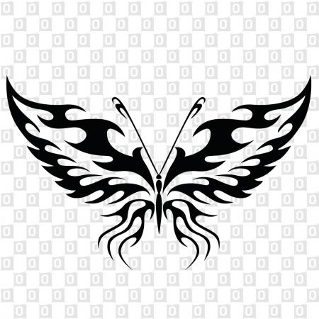 Schmetterlingmotiv als Aufkleber