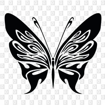 Kleber Schmetterlingmotiv