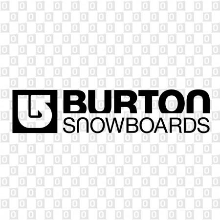 Burton Snowboard Aufkleber Konturschnitt Kleber fürs Auto