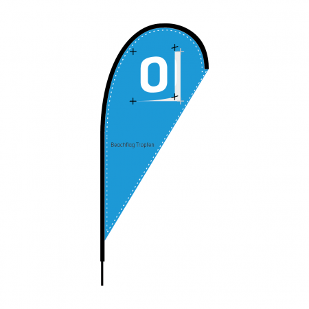 Beachflag Tropfen-Design
