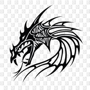 Drachenkopf Drachen Dragon Autoaufkleber