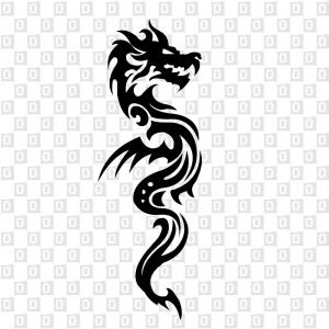 Drachenkleber Dragon Aufkleber für Auto Kleber für Heckscheibe