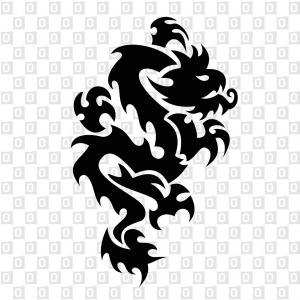 Drachen Dragon Kleber für Auto Heckscheibenaufkleber