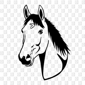 Pferdekopf Sticker Horse Kleber Aufkleber Konturschnitt