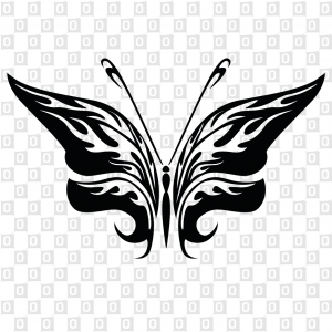 Konturgeschnittener Schmetterlingkleber