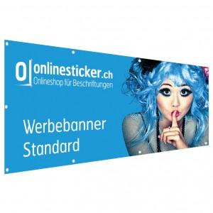 Werbebanner Standard (Frontlit 510g/qm)