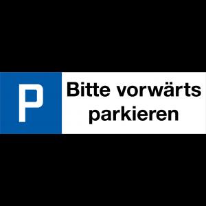 P BITTE VORWÄRTS PARKIEREN