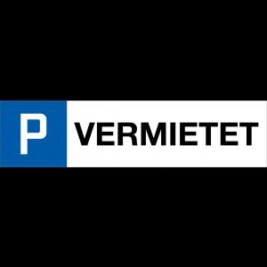 Parkplatzschild VERMIETET