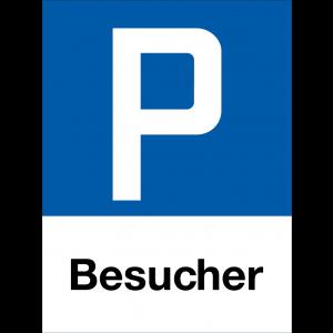 Parkplatzschild P Besucher, Hochformat