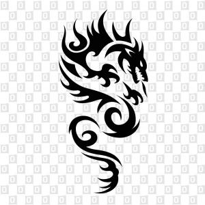 Drachen Dragon Tribal Autokleber Heckscheibenaufkleber Kleber für Autos