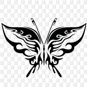 Aufkleber im Konturschnitt mit Schmetterlingsmotiv