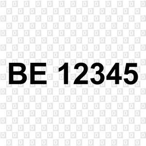 Bootsnummern Kleber für Boote