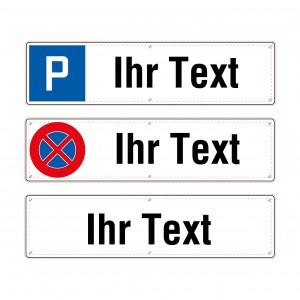 Parkplatzschild Freitext, einzeilig