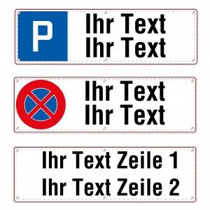 Parkplatzschild Freitext, zweizeilig