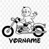 Babyaufkleber Boy Motorrad Töffaufkleber Kleber für die Autos