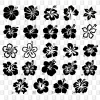 Hawaiiblüten Hibiskusblumen Kleber Aufkleber konturgeschnitten Heckscheibenaufkleber