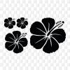 Hawaiiblüten Hibiskusblumen Kleber Aufkleber konturgeschnitten Hibiskusblütenmotiv