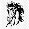 Horse Pferdekopf Aufkleber Sticker