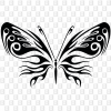 Schmetterling Kleber konturgeschnitten