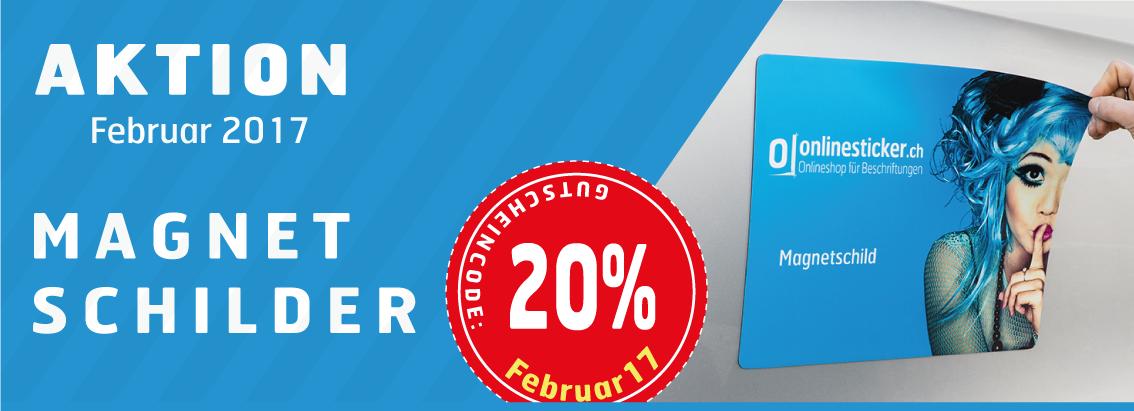 20% Rabatt auf Magnetschilder