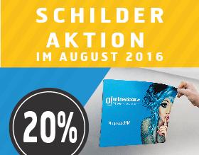Schilder Aktion bei onlinesticker.ch