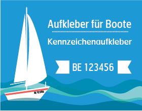 Bootskennzeichen & Bootsnummern für die Schweiz. Nach Strassenverkehrszulassung.