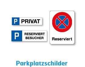 Parkplatzschilder mit Kennzeichen und Freiem Text. In diversen Grössen und Ausführungen